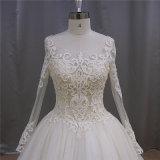 Robe de mariage musulmane de chemise de Champagne de robe de bille longue (XF1080)