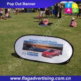 Ткань напольный рекламировать изготовления портативная хлопает вверх знамя, хлопает вне знамя