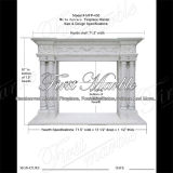 Bordure blanche Mfp-430 de cheminée de Carrare de granit en pierre de marbre