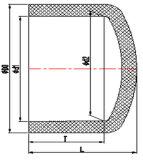 2-1/2inch 3inch 4inch CPVC Sch80の管付属品のエンドキャップ