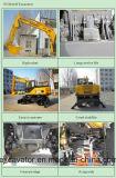 Nuevos pequeños excavadores de la rueda de la venta del compartimiento caliente del amarillo 0.3m3