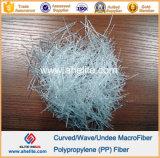 Fibra macro curvada aditivo da onda do Polypropylene da fibra dos PP do cimento