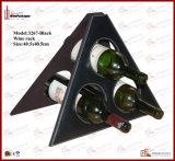Three Bottles (3267)のためのFoldable Leather Wine Rack