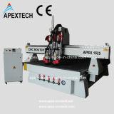 두 배는 가늘고 길게 한다 CNC 목제 조각 기계 (정점 A1625satc-2pindles)를