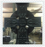 Black Tombstone Cross Monument for Fueral