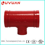 Te de reductor Grooved de ASTM para el acoplador y la guarnición del tubo