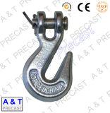 Выкованная поднимаясь сталь углерода крюка с проушиной и сталь сплава