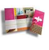 Glattes Kunstdruckpapier-bekanntmachendes Flugblatt-Blättchen-Drucken-dreifachgefaltetes Flugblatt-Drucken