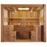 Pièce sèche de sauna de modèle de mode de Monalisa avec le plafond de DEL (M-6046)