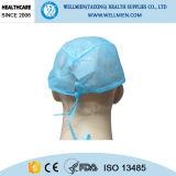 Do laço chapéu cirúrgico não tecido descartável para trás