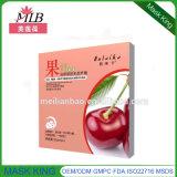 Máscara facial de seda de la fibra de la fruta de /Soften de la reparación de la piel de la cereza de la naturaleza