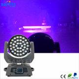 단계 가벼운 36PCS 10W RGBW 중국 이동하는 헤드 LED 급상승 풀 컬러