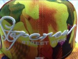 落書き6 Panels Printed 3D Embroidery Logo Baseball Cap