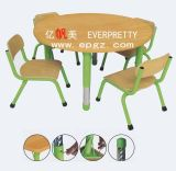 높은 Quality Children Furniture Plastic School Desk 및 Chair