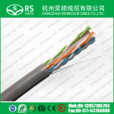 CAT6A UTP con 0,57 mM de cable de cobre Ethernet 23AWG