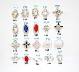 Jóia de cristal das gemas da prata da liga do encanto da decoração 3D da arte do prego dos Rhinestones