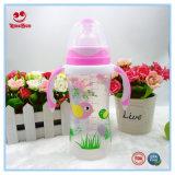 Breiter Stutzen-führende Säuglingsflasche mit doppeltem Farben-Griff