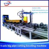 Machine taillante Kr-Xy5 de Plamsa de 5 axes de commande numérique par ordinateur de découpage en acier de pipe