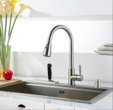 Brushed Nickel PVD Pull out Kitchen Mixer
