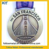 Médaille faite sur commande pour le marathon de San Francisco, module de finition