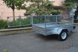 Iso Certification Steel Material Hot Dipped Galvanized 7X5 Mesh Tipping Cage Trailer