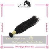 O cabelo humano não processado do cabelo Curly profundo peruano do Virgin da onda tece o cabelo Curly peruano