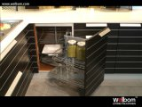 Projeto 2015 de venda quente da cozinha do folheado da madeira de carvalho de Welbom