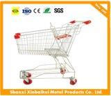 Het Aziatische het Winkelen van het Karretje van de Supermarkt van het Boodschappenwagentje van het Type Karretje van de Hand van het Karretje