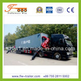 3axle Skeletal Container Semi Trailer con Crane