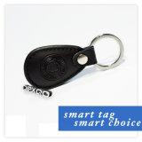 ゲート管理のためのKeyfob革13.56MHz F08 RFID Keyfobの札