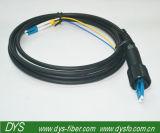 Câble de fibre optique extérieur noir à plusieurs modes de fonctionnement de connexion