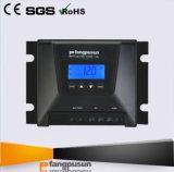 Regulador solar 15A de la carga del voltaje clasificado de Fangpusun 12V 24V con el LCD para el sistema de la luz de calle