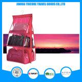 Прозрачный PVC и Non-Woven красный вися карманный мешок хранения устроителя