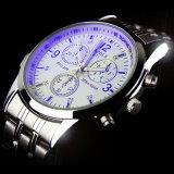 Diseño de lujo de los hombres del reloj del asunto del reloj de la manera de H271-S Yazole con el vidrio azul