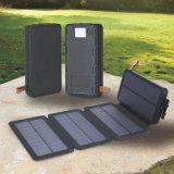 접히는 태양 충전기 10000mAh 휴대용 태양 에너지 은행 이중 USB