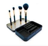 Nuevo conjunto de cepillo del maquillaje del imán 4PCS del OEM con el rectángulo del estaño