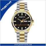 標準的な腕時計のPolit様式のスチール・ケースのMiyotaの動きの腕時計