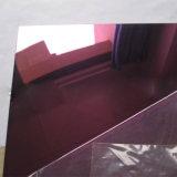 Feuilles de miroir de coloration d'acier inoxydable