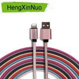 Cable trenzado de nylon de carga del iPhone del USB del cable del teléfono móvil