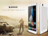 "Oukitel K6000 4G 5.5の""携帯電話のアンドロイド5.1 Mtk6735 64bitのクォードのコア1.0GHz 2GB 16GB 13.0MP OTGは二重SIM GPSのスマートな電話黒料金絶食する"