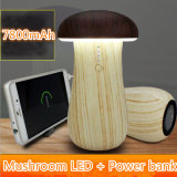New Arrival Mushroom Power Bank 7800mAh avec lampe détachable Cute Gift