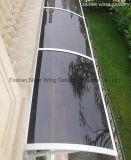 Support en aluminium auvent Canopée transparente pour fenêtre et porte ou balcon (YY-F)