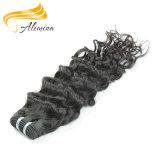 最上質のインドの人間の毛髪のWeft Remyの人間の毛髪の織り方