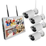 jogo sem fio da câmera do CCTV de 1.3MP 4CH com o registrador de NVR com 10.1 polegadas de monitor construído no disco rígido 1tb
