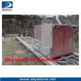 O fio do corte por blocos de Quarry& do granito viu a máquina