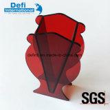 Vase rouge acrylique neuf à plexiglass de forme de Goldfish