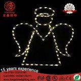 Lumière de Chritmas de motif de bâti de fer de cornière d'Oudoor de décoration de DEL pour la décoration de vacances