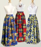 La cera de Afican de las mujeres nigerianas al por mayor de encargo del estilo imprime la falda maxi de Hollandais de la tela