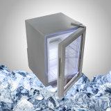 Белый миниый холодильник с стеклянной дверью