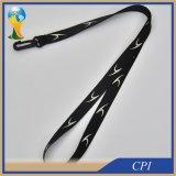 Lanière noire de polyester avec le crochet ovale en plastique
